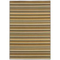 Oriental Weavers Bali Stripe 1-Foot 9-Inch x 3-Foot 9-Inch Indoor/Outdoor Rug in Grey/Gold