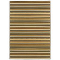 Oriental Weavers Bali Stripe 7-Foot 10-Inch x 10-Foot 10-Inch Indoor/Outdoor Rug in Grey/Gold