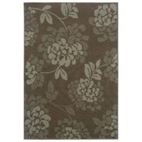 Oriental Weavers Bali Floral 1-Foot 9-Inch x 3-Foot 9-Inch Indoor/Outdoor Rug in Grey/Blue