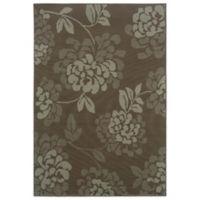 Oriental Weavers Bali Floral 5-Foot 3-Inch x 7-Foot 6-Inch Indoor/Outdoor Rug in Grey/Blue