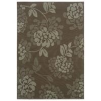 Oriental Weavers Bali Floral 7-Foot 10-Inch x 10-Foot 10-Inch Indoor/Outdoor Rug in Grey/Blue