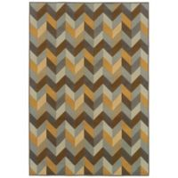 Oriental Weavers Bali Geometric Chevron 1-Foot 9-Inch x 3-Foot 9-Inch Rug in Grey/Gold