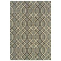 Oriental Weavers Bali Geometric 1-Foot 9-Inch x 3-Foot 9-Inch Indoor/Outdoor Rug in Ivory/Grey