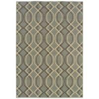 Oriental Weavers Bali Geometric 5-Foot 3-Inch x 7-Foot 6-Inch Indoor/Outdoor Rug in Ivory/Grey