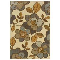 Oriental Weavers Bali Flowers 7-Foot 10-Inch x 10-Foot 10-Inch Indoor/Outdoor Rug in Ivory/Grey