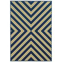 Oriental Weavers Riviera Criss Cross 1-Foot 9-Inch x 3-Foot 9-Inch Rug in Navy