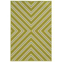 Oriental Weavers Riviera Criss Cross 2-Foot 5-Inch x 4-Foot 5-Inch Rug in Green