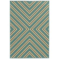 Oriental Weavers Riviera Criss Cross 7-Foot 10-Inch x 10-Foot 10-Inch Rug in Light Blue