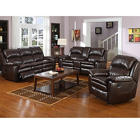 Pulaski Dillon Recliner Sofa and Glider Console Loveseat in Dark Brown  sc 1 st  Bed Bath u0026 Beyond & Pulaski Dillon Recliner Sofa and Glider Console Loveseat in Dark ... islam-shia.org