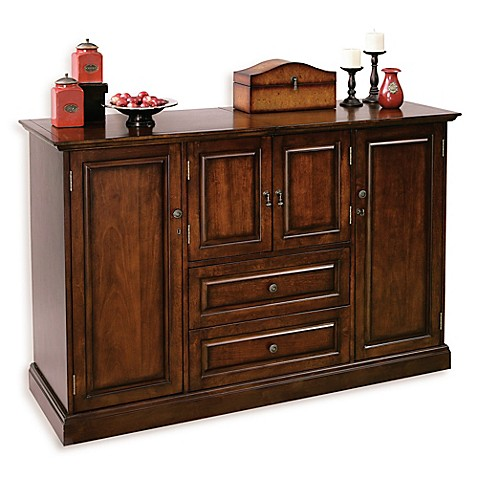 Howard Miller Bar Devino Wine Bar Cabinet In Americana Cherry Bed Bath Beyond