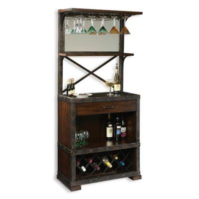 Howard Miller Red Mountain Wine U0026 Bar Cabinet In Rustic Hardwood