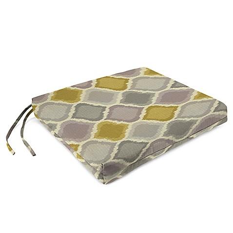 French Edge Chair Cushions In Sunbrella Empire Dawn Set