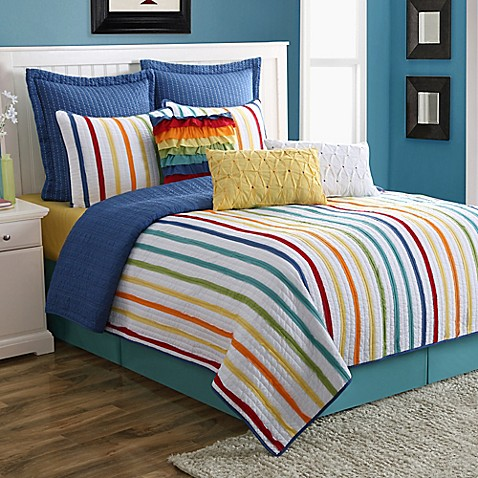 Fiesta 174 Baja Stripe Reversible Quilt Set Bed Bath Amp Beyond