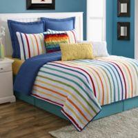 Fiesta® Baja Stripe Reversible King Quilt Set