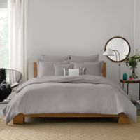 Real Simple® Lattice King Duvet Cover in Grey