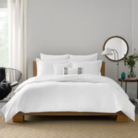 Real Simple® Lattice Twin Duvet Cover in White