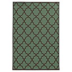 Oriental Weavers Riviera Trellis 2-Foot 5-Inch x 4-Foot 5-Inch Indoor/Outdoor Rug in Blue/Brown