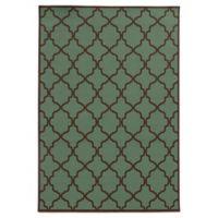 Oriental Weavers Riviera Trellis 2-Foot 5-Inch x 4-Foot 5-Inch Indoor/Outdoor Rug in Blue/Brown