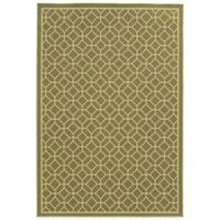 Oriental Weavers Riviera Honeycomb 1-Foot 9-Inch x 3-Foot 9-Inch Indoor/Outdoor Rug in Green