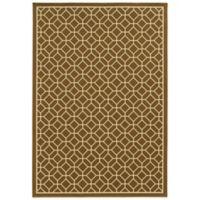 Oriental Weavers Riviera Honeycomb 1-Foot 9-Inch x 3-Foot 9-Inch Indoor/Outdoor Rug in Brown