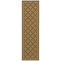 Oriental Weavers Riviera Honeycomb 2-Foot 3-Inch x 7-Foot 6-Inch Indoor/Outdoor Runner in Brown