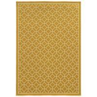 Oriental Weavers Riviera Honeycomb 7-Foot 10-Inch x 10-Foot 10-Inch Indoor/Outdoor Rug in Gold