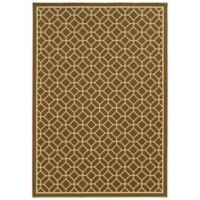 Oriental Weavers Riviera Honeycomb 7-Foot 10-Inch x 10-Foot 10-Inch Indoor/Outdoor Rug in Brown