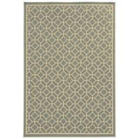 Oriental Weavers Riviera Honeycomb 7-Foot 10-Inch x 10-Foot 10-Inch Indoor/Outdoor Rug in Grey