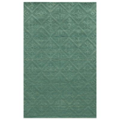 rizzy home technique teal 2foot x 3foot area rug in blue