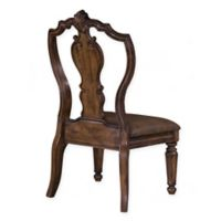 Pulaski San Mateo Carved Back Side Chair in Brown