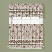 Pinecone 24-Inch Window Curtain Tier Pair in Plaid