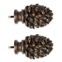 Cambria® Premier Complete Decorative Pinecone Finial