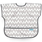 Bumkins® Chevron Junior Bib in Grey/White