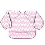 Bumkins® Chevron Long Sleeve Bib in Pink/White