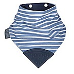 Cheeky Chompers® Neckerchew® Preppy Stripes 2-in-1 Teething Bandana Bib in Light Blue/Navy