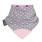 Cheeky Chompers® Neckerchew® Polka Dot 2-in-1 Teething Bandana Bib in Grey/Pink