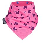 Cheeky Chompers® Neckerchew® Flutterby 2-in-1 Teething Bandana Bib in Pink/Purple