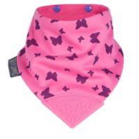 Cheeky Chompers® Neckerchew® Flutterby 2-in-1 Teething Bandana Bib in Pink/Purple
