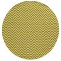 Oriental Weavers Riviera Chevron 7-Foot 10-Inch Round Indoor/Outdoor Rug in Green