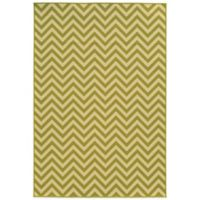 Oriental Weavers Riviera Chevron 7-Foot 10-Inch x 10-Foot 10-Inch Indoor/Outdoor Rug in Green