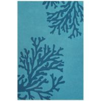 Jaipur Grant Design Bough Out 3-Foot 6-Inch x 5-Foot 6-Inch Indoor/Outdoor Rug in Blue