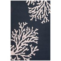 Jaipur Grant Design Bough Out 3-Foot 6-Inch x 5-Foot 6-Inch Indoor/Outdoor Rug in Majolica Blue