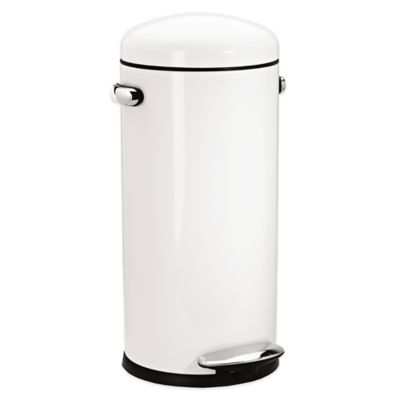 simplehuman  Retro Step 30 Liter Trash Can in White. Buy Simplehuman Trash Cans from Bed Bath   Beyond