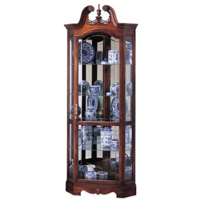 Howard Miller Berkshire Corner Curio In Windsor Cherry