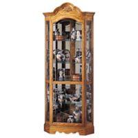 Howard Miller Wilshire Curio Cabinet in Golden Oak