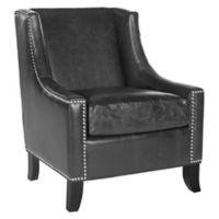 Safavieh Daniel Club Chair in Antique Black