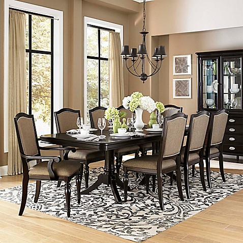 Verona home lorimer 9 piece dining set bed bath beyond for Dining room table 6 person