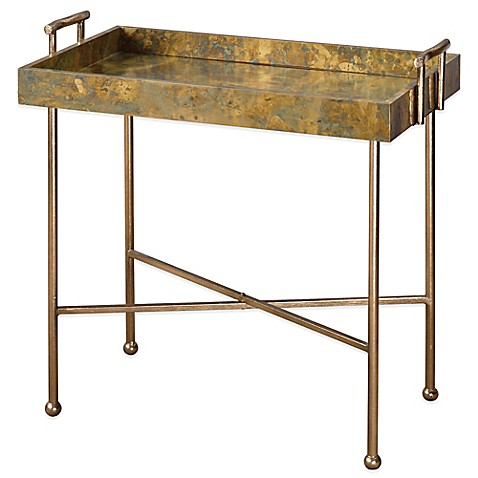 Uttermost Couper Oxidized Tray Table Bed Bath Amp Beyond