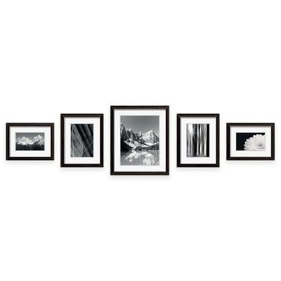 swing design 5 piece frame gallery in black