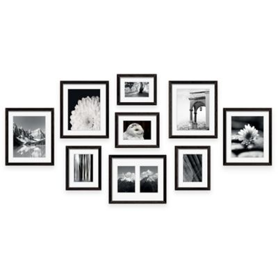 swing design 9 piece frame gallery in black